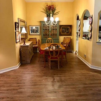 Vinyl plank installation by Naples Abbey Carpet & Floor.