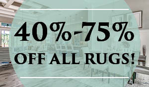 40-75% off all rugs at Abbey Carpet of Naples this month only!