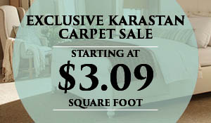 Exclusive Karastan Carpet Sale starting at $3.09 sq.ft. only available at Abbey Carpet & Floor of Naples!  8 brand new styles in-stock - Free installation with purchase of pad - Free furniture moves - Free carpet removal & disposal!