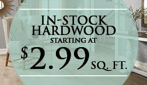 In-stock hardwood starting at $2.99 sq.ft. at Abbey Carpet & Floor of Naples.