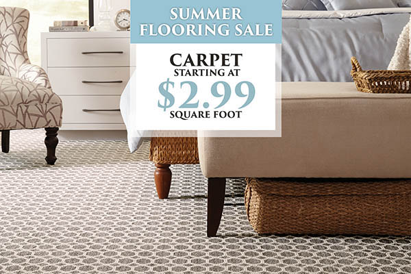 Carpet starting at $2.99 sq.ft. during the summer flooring sale at Naples Abbey Carpet & Floor!