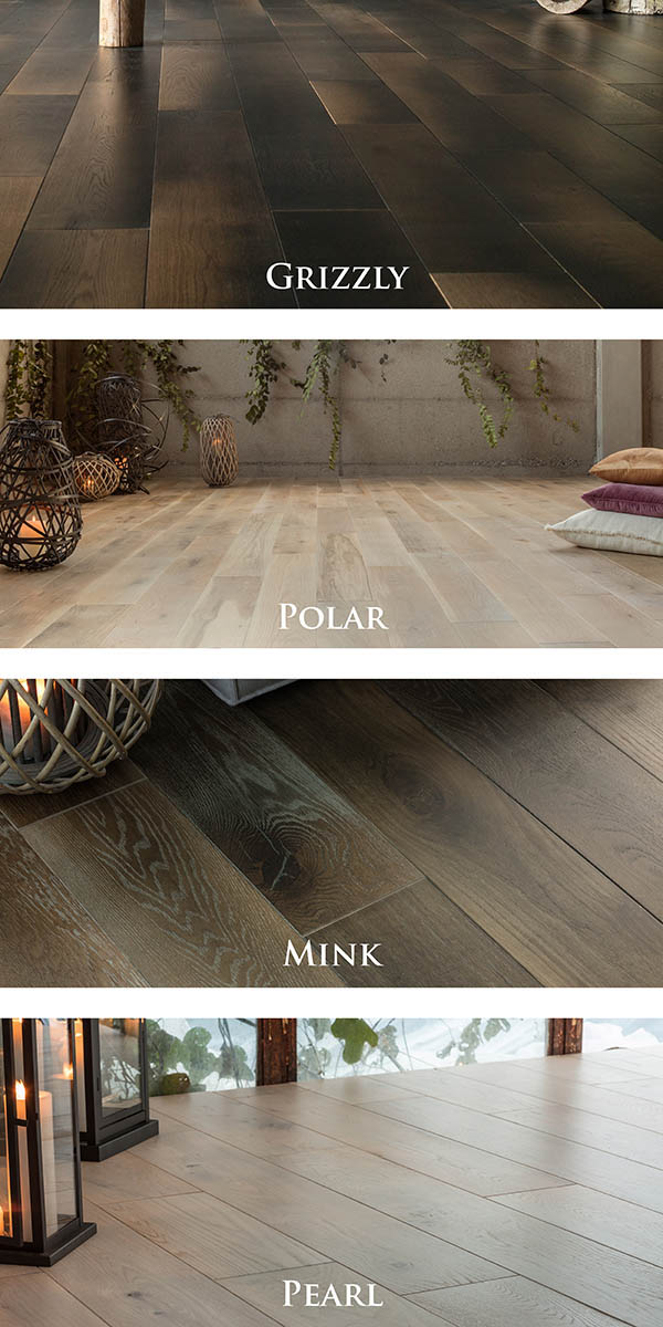 Exclusive Grizzly, Polar, Mink & Pearl hardwood starting at $11.99 sq.ft.