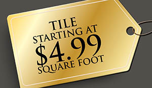 Large format tile starting at $4.99 sq.ft. this month only!