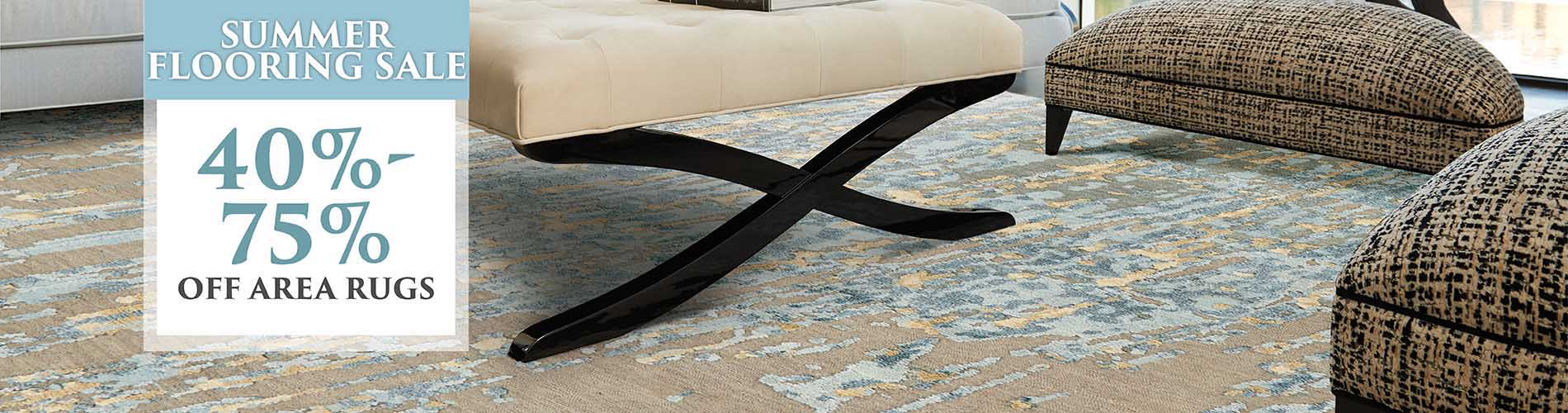 40% - 75% OFF ALL RUGS!